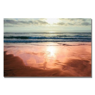 'Costal Reflections IV' by Ariane Moshayedi Ready to Hang Canvas Wall Art