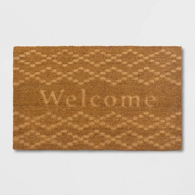 Etched Welcome Doormat Beige - Threshold™