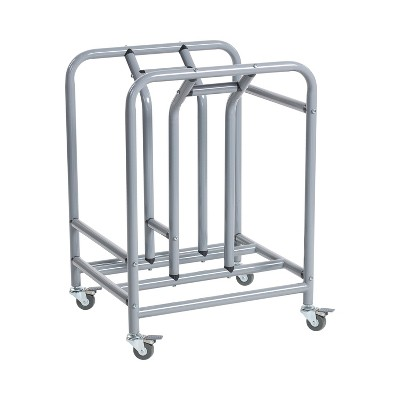 ECR4Kids The Surf Storage Rack, Stores 10 Portable Lap Desks, Cart with Rolling and Locking Casters