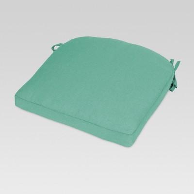 Outdoor Round Back Seat Cushion Turquoise - Threshold™