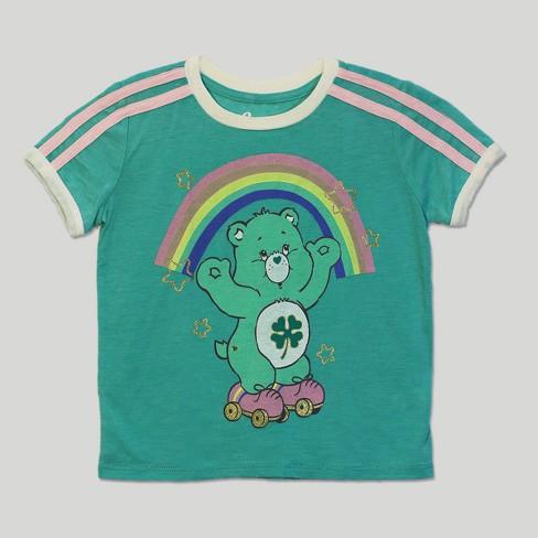 e6a43194aac876 Toddler Girls  Care Bears Good Luck Bear Short Sleeve T-Shirt - Green