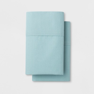 Solid Easy Care Pillowcase Set (Standard)Aqua - Made By Design™