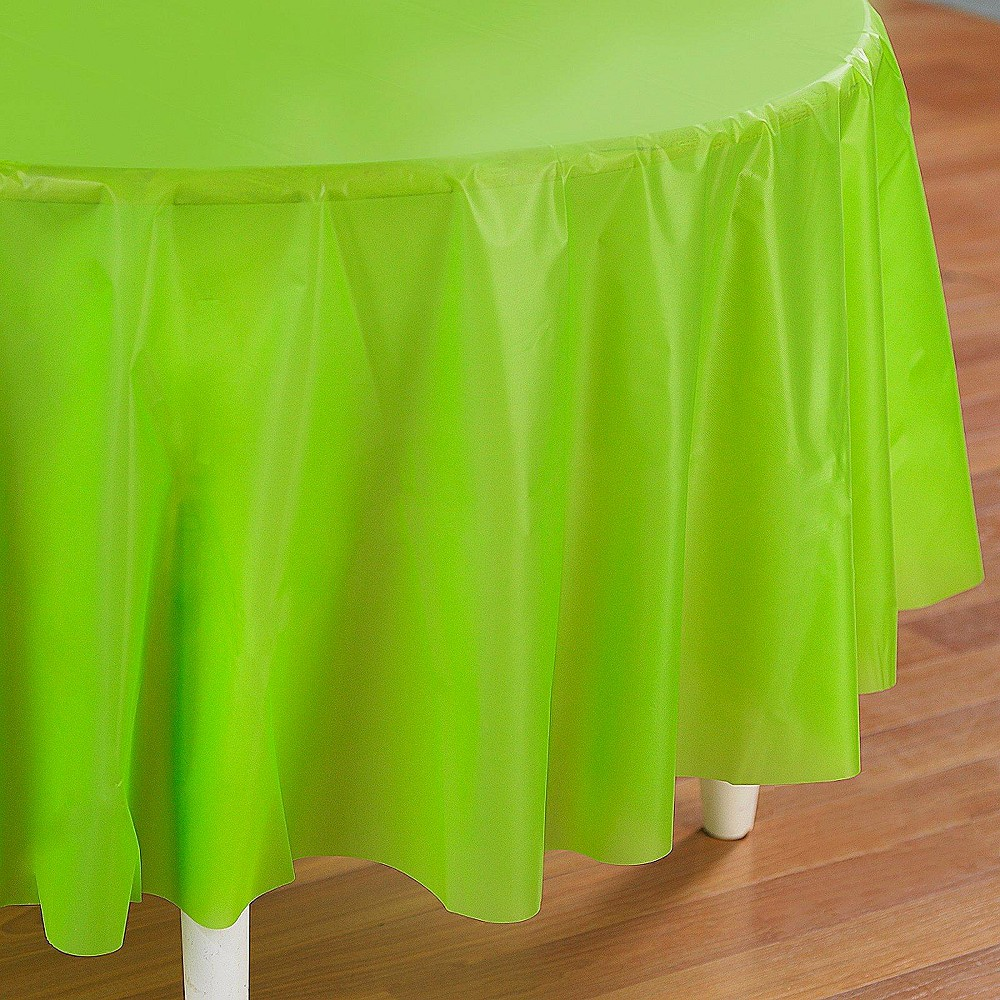 Fresh Lime Green Disposable Tablecloth Promos