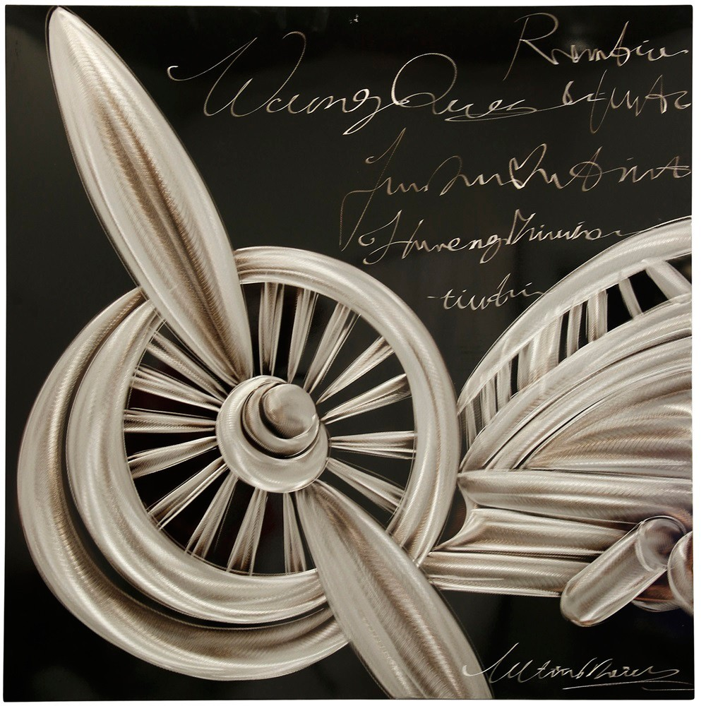 40 Aero Nautical Engineer Industrial Vintage Decorative Wall Art Silver - StyleCraft
