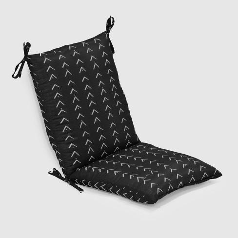 Vee Stripe Outdoor Chair Cushion Black Opalhouse Target