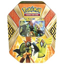 2017 Pokemon Trading Cards Island Guardins Tin featuring Tapu Koko GX