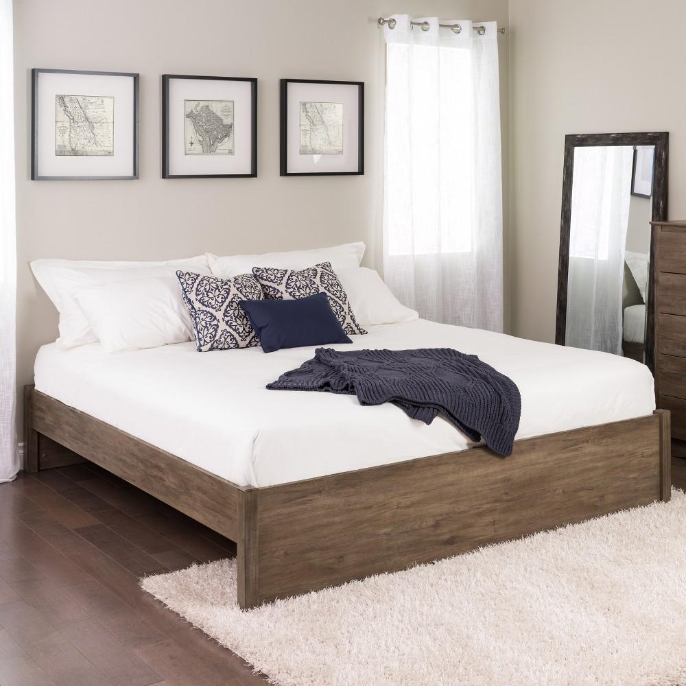 King Select 4 - Post Platform Bed Drifted Gray - Prepac