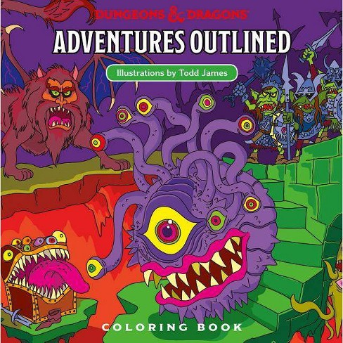 Dungeons & Dragons Adventures Outlined Coloring Book - (Paperback) - image 1 of 1