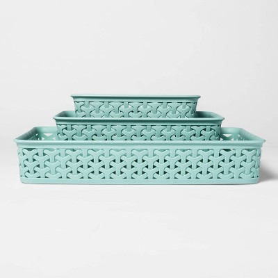 "2""x11"" 3pk Y Weave Jade Green - Room Essentials™"
