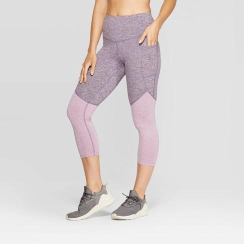 "Women's Studio High-Waisted Colorblock Capri Leggings 20"" - C9 Champion® - image 1 of 2"