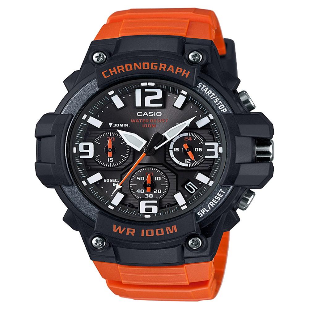 Men's Casio Analog Watch - Orange, Dark Orange
