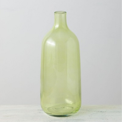"Sullivans Glass Bottle Vase 13""H Green"