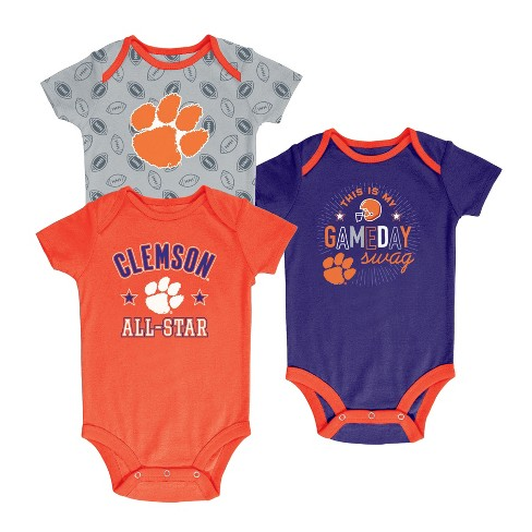 Clemson Tigers Baby Boy Short Sleeve 3pk Bodysuit - image 1 of 1