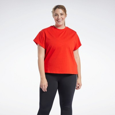 Reebok Studio Performance Tee Womens Athletic T-Shirts