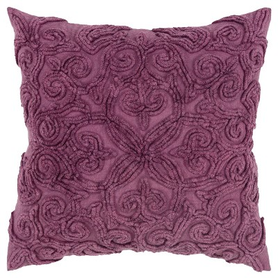 "20""x20"" Oversize Swirls Polyester Filled Square Throw Pillow - Rizzy Home"