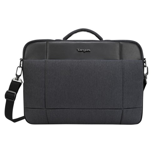 Targus 15 6 Strata Pro Slim Brief Laptop Bag Charcoal Black Tss952ust Target