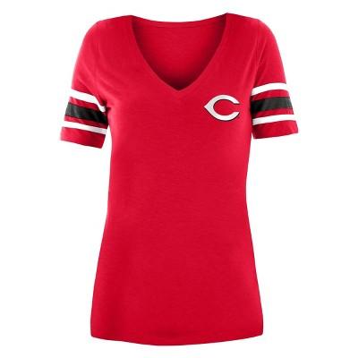 MLB Cincinnati Reds Women's Pitch Count V-Neck T-Shirt