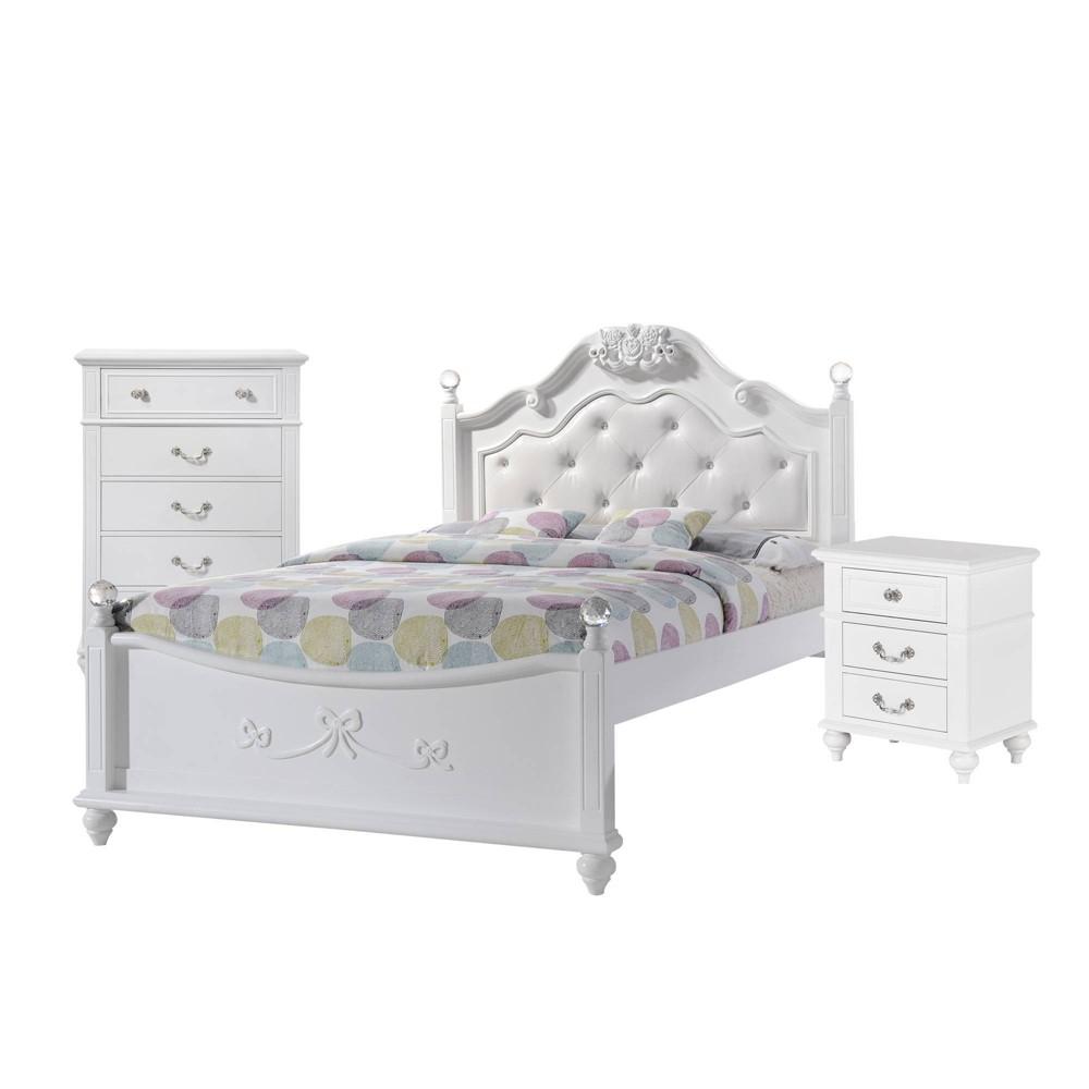 Image of 3pc Full Annie Platform Bedroom Set White - Picket House Furnishings