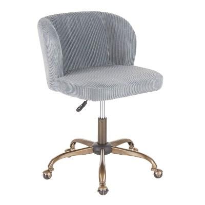 Fran Contemporary Task Chair Corduroy Sage - LumiSource