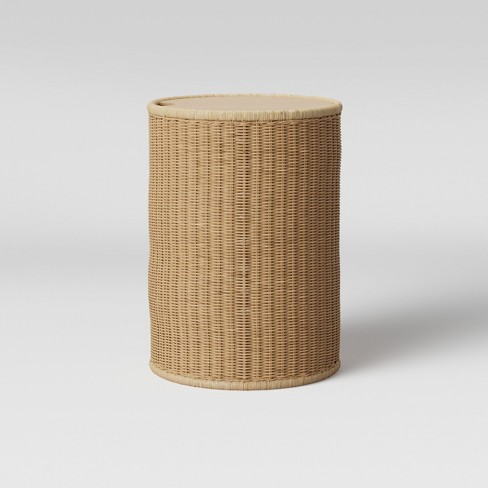 Braeswood Wicker Side Table with Removable Wood Top Brown - Project 62™ - image 1 of 3