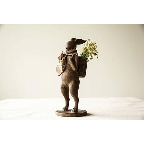 Rabbit Figurine - Brown - 3R Studios - image 1 of 4