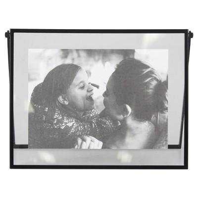 Hinge Float Horizontal Single Image Frame Black - Project 62™