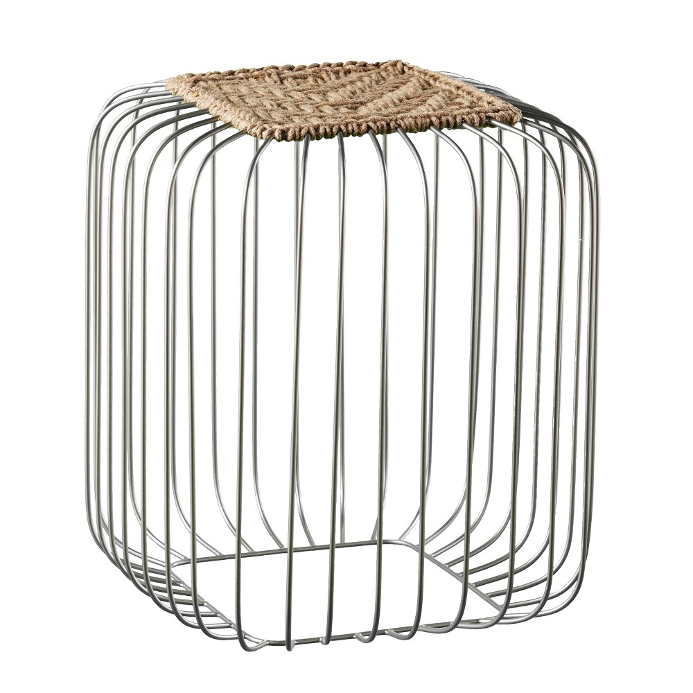 Kochi Jute Accent Table Silver - Holly & Martin