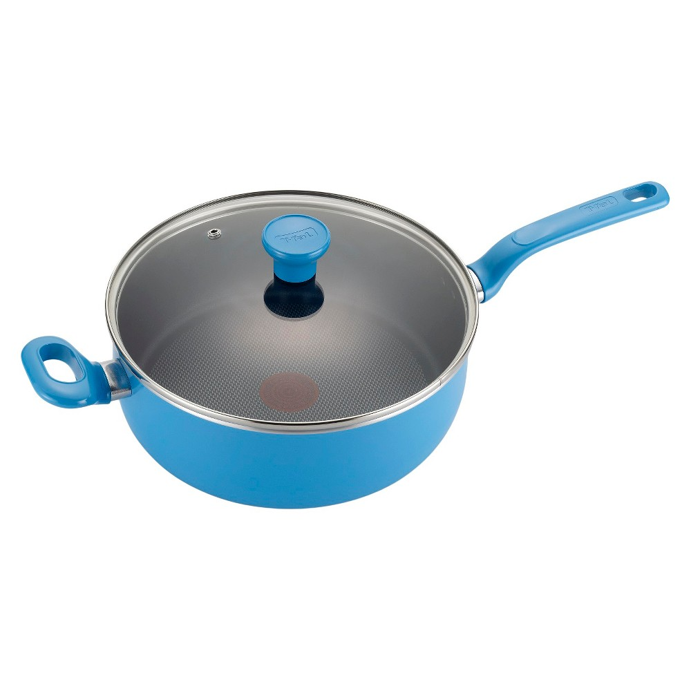 T-fal Excite Nonstick C96933 Dishwasher Safe Cookware 45 Quart Jumbo Cooker with Lid Blue Turquoise