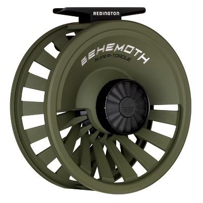 Redington 5-5506R78R Behemoth 7/8 Spool Heavy-Duty Adjustable Drag Carbon Fiber Fly Fishing Reel, O.D. Green