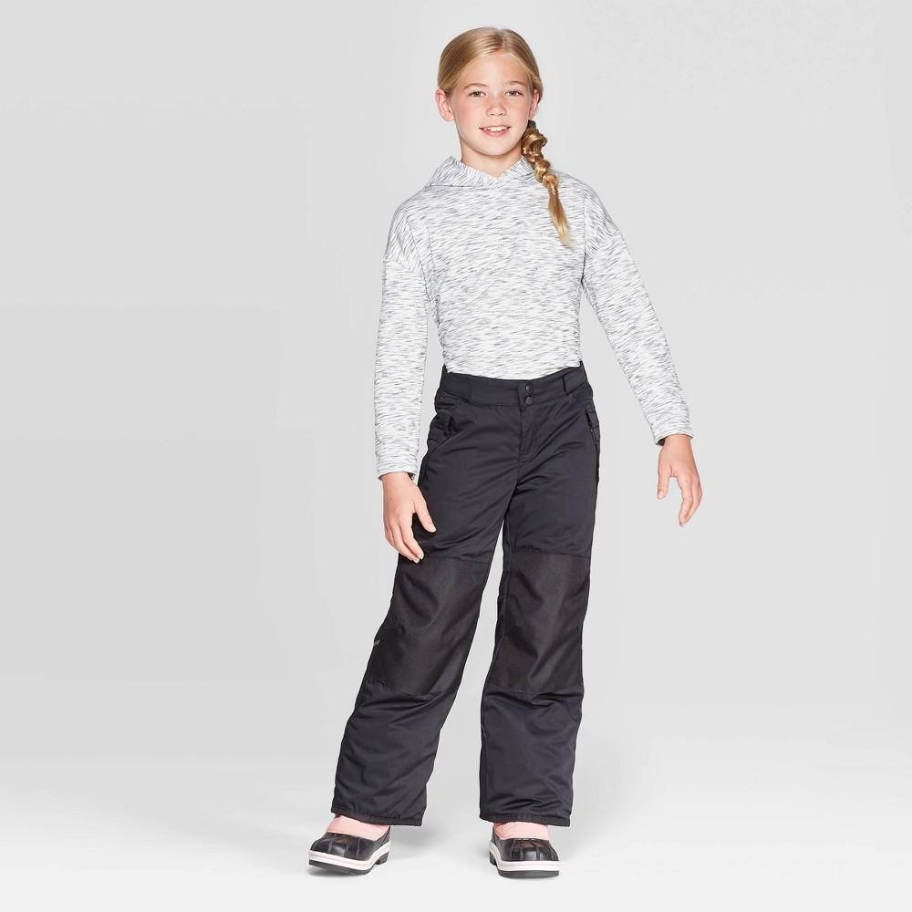 Image of Girls' Elevated Snow Pants - C9 Champion Black S, Girl's, Size: Small