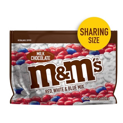 M&Ms Red White and Blue Milk Chocolate Candies - 10.7oz
