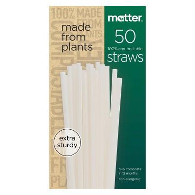 Matter 100% Compostable Straws - 50ct
