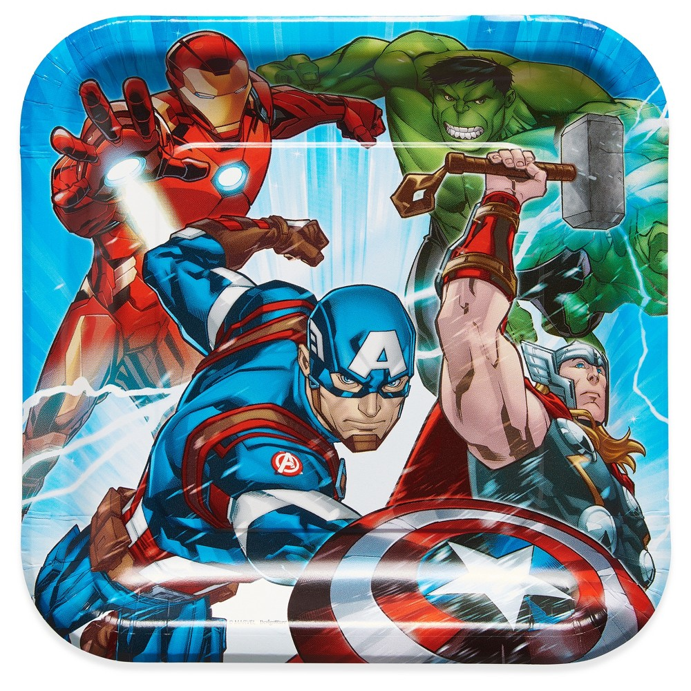 """Image of """"Avengers 9"""""""" Paper Plates - 8ct"""""""