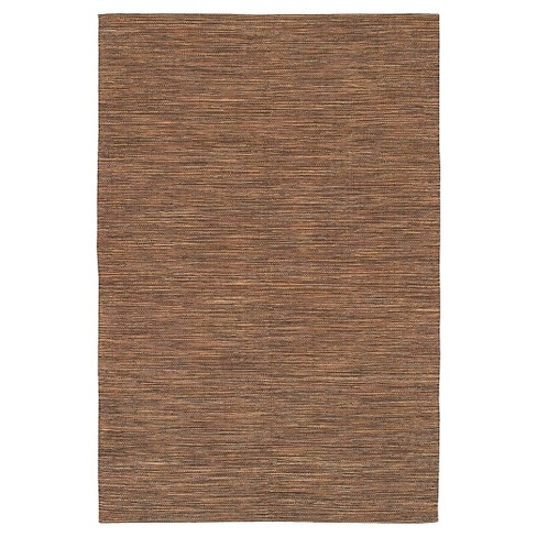 Chandra India 11 Hand-Woven Cotton Area Rug - Brown - image 1 of 2