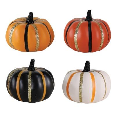Mini Halloween Pumpkin Stripes Orange/Black 8ct - Hyde and Eek! Boutique™