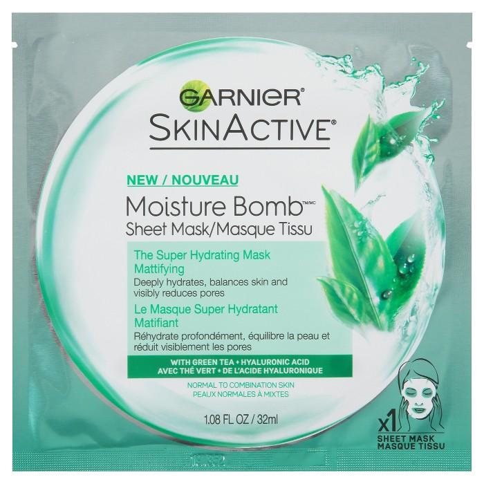 Garnier SkinActive Super Hydrating Face Mask Sheet - Mattifying - 1.08 fl oz - image 1 of 5