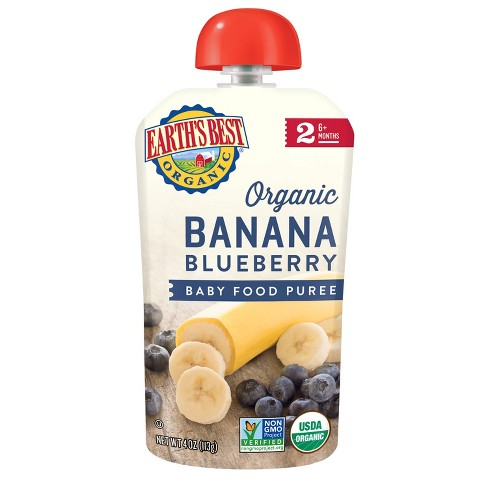 Earth's Best Organic Stage 2 Banana Blueberry Baby Food - 4oz - image 1 of 1