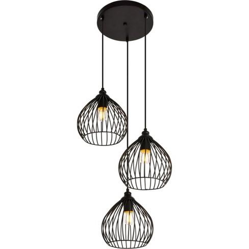 "Elegant Lighting LDPD2095 Sayer 3 Light 16"" Wide Pendant with Aluminum Shades - image 1 of 4"