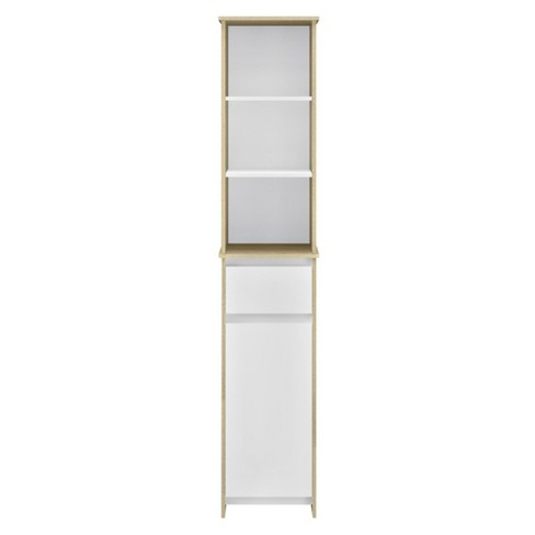 Flint Storage Cabinet - Weathered Oak/White - Room & Joy - image 1 of 4