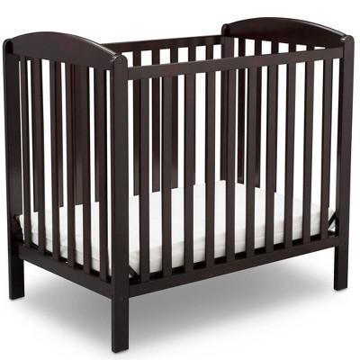Delta Children Emery Mini Convertible Baby Crib with Mattress
