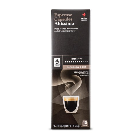 Espresso Pour Altissimo Dark Roast Espresso Capsules - Single Serve Espresso Capsules - 10ct - Archer Farms™ - image 1 of 3