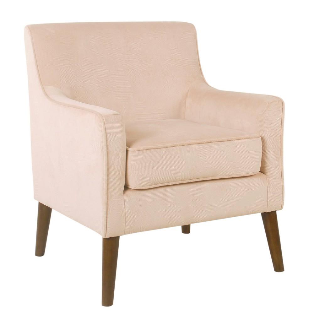 Davis Mid-Century Accent Chair Blush Velvet - HomePop was $289.99 now $217.49 (25.0% off)