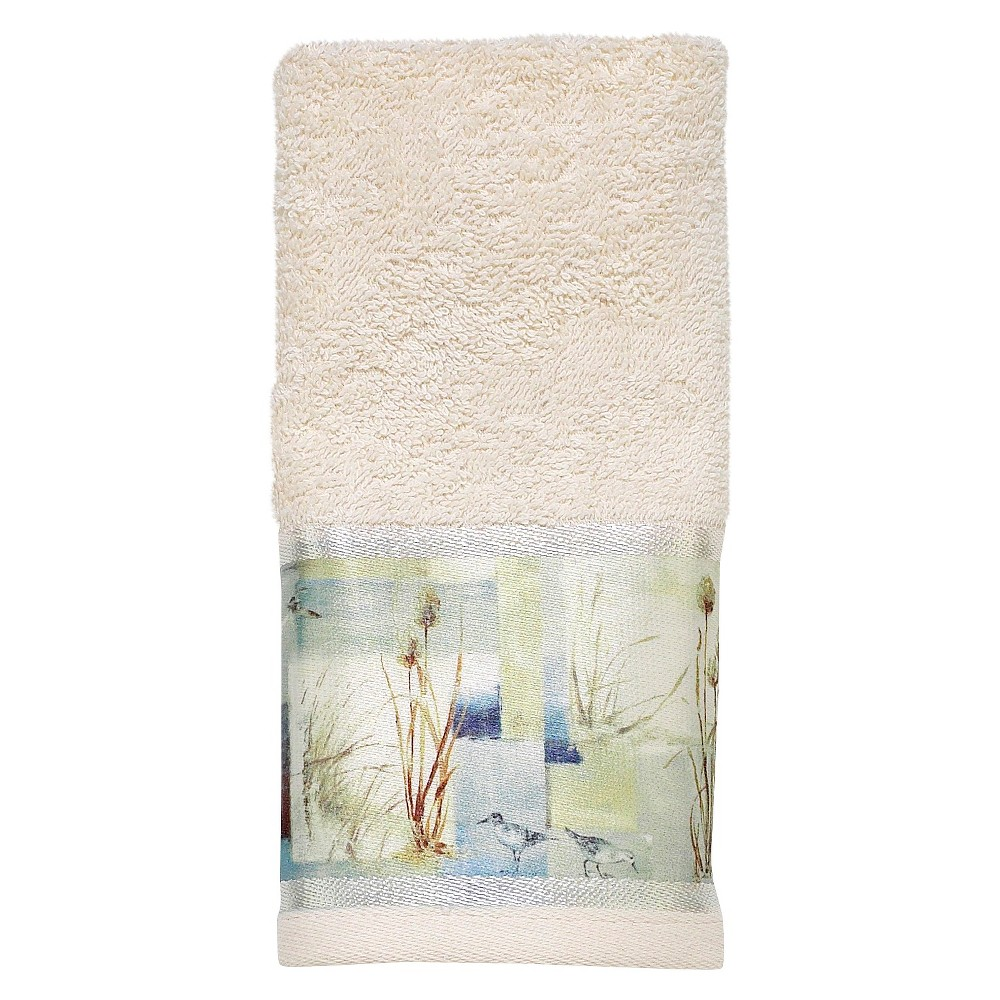 Avanti Blue Waters Fingertip Towel, Beige