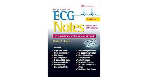 ECG Notes : Interpretation and Management Guide (Indexed) (Paperback) (RN Shirley A. Jones) - image 1 of 1