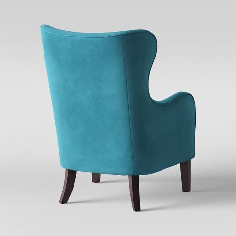 Torenia Velvet Wingback Chair Opalhouse
