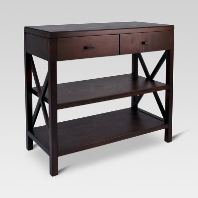 owings console table 2 shelf with drawers threshold target rh target com Sofa Tables with Storage Shelves Sofa Tables with Drawers and Shelf