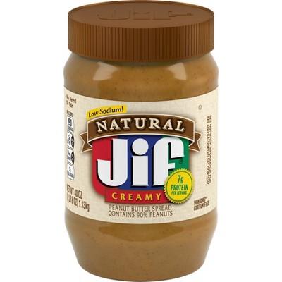 Jif® Natural Creamy Peanut Butter - 40oz