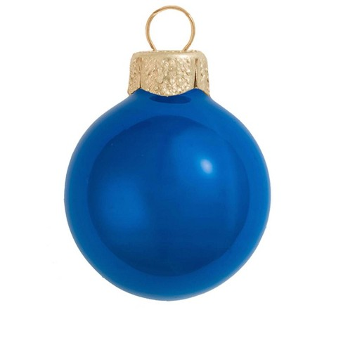 "Northlight 40ct Pearl Glass Ball Christmas Ornament Set 1.25"" - Cobalt Blue - image 1 of 1"