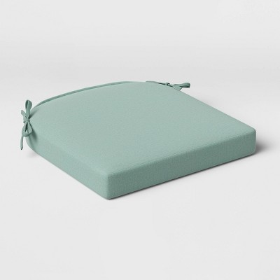 Outdoor Rounded Seat Cushion DuraSeason Fabric™ Aqua - Threshold™