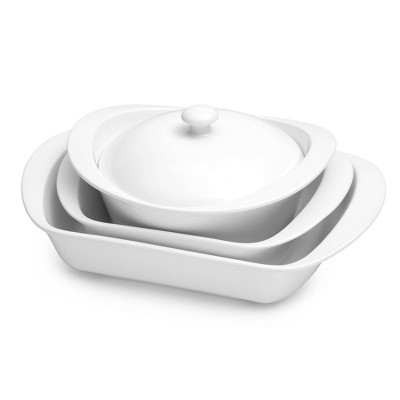 7pc Porcelain Bakeware Serving Set White - Certified International